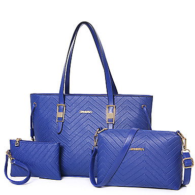 נשים PU רשמי / קז'ואל / משרד וקריירה / קניות תיק נשיאה / סטי תיק כחול / זהב / אדום / שחור