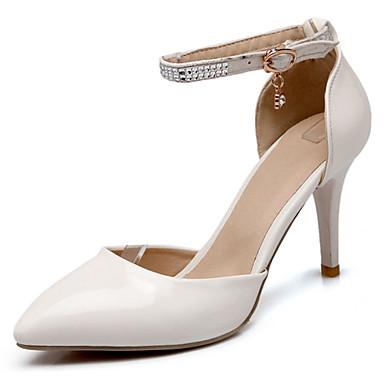 Жен. Обувь Дерматин Лето На шпильке для Для праздника Для вечеринки / ужина Белый Красный Розовый