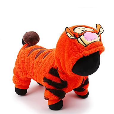 חתול כלב תחפושות סרבלים בגדים לכלבים אנימציה כתום בד פלסטיק תחפושות עבור חיות מחמד בגדי ריקוד גברים בגדי ריקוד נשים חמוד חג קוספליי