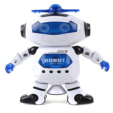 Robot LED Aydınlatma Müzik Sevimli şan Dans Yürüyüş 360° Dönüş Çok Fonksiyonlu ABS Genç Erkek Hediye 1pcs
