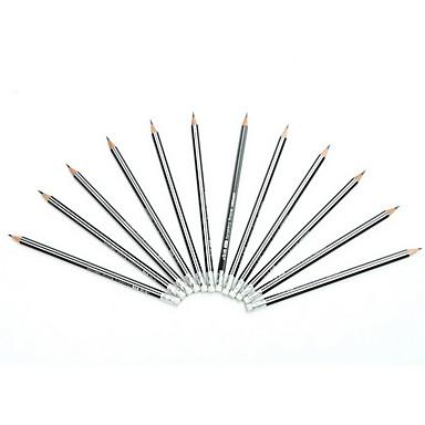 Stift Stift Bleistifte Stift, Holz Schwarz Tintenfarben For Schulzubehör Bürobedarf Packung