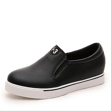 kvinners sko lær kile hæl kiler loafers utendørs / uformell svart / rød / hvit