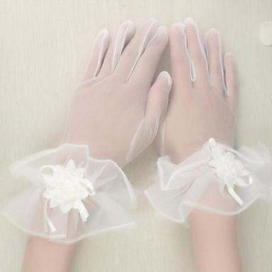 Tüll Handgelenk-Länge Handschuh Brauthandschuhe Party / Abendhandschuhe With Blumig
