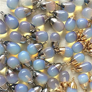 jóias diy pingente de liga estilo pedra azul