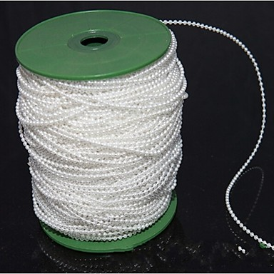 100m bomull tråd perle tau bryllup bruden holder blomster dekorative perle perle hvite
