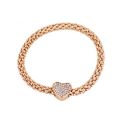 Femme Charmes pour Bracelets Mode Bijoux de Luxe Européen Imitation Diamant Alliage Or Rose Bijoux Pour Quotidien Décontracté 1pc