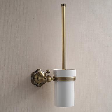 Suporte para Escova de Banheiro / Gadget de Banheiro / Latão Polido / De Parede /5.1*2.36*14.96 inch /Latão /Antigo /13cm 6cm 0.65KG
