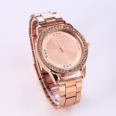 Mujer Reloj de Moda Reloj Casual Acero Inoxidable Banda Lujo / Destello Plata / Dorado / Oro Rosa / Un año / Tianqiu 377