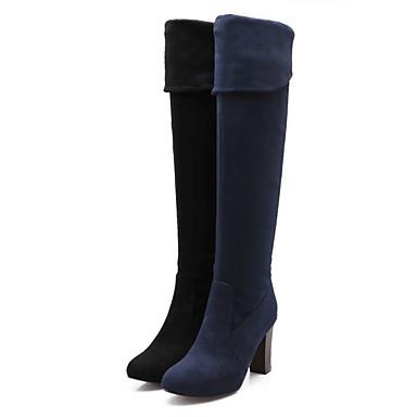 Γυναικεία παπούτσια - Μπότες - Ύπαιθρος / Γραφείο & Δουλειά / Καθημερινά - Χοντρό Τακούνι - Με Τακούνι / Στρογγυλή Μύτη - Δερματίνη -