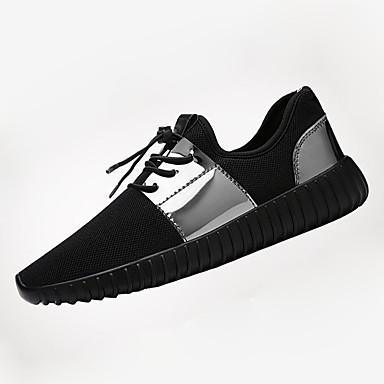 Dame Flate sko Komfort Tyll Vår Sommer Høst Avslappet Komfort Flat hæl Svart Sølv