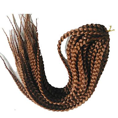 Tranças torção Box Tranças fibra sintética burgundy 1b / # 27 Loiro Morango/Loiro Claro 1b / # 30 1b / # 33 Extensões de cabelo 45cm