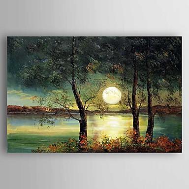 Håndmalte Landskap Vannrett, Moderne Lerret Hang malte oljemaleri Hjem Dekor Et Panel
