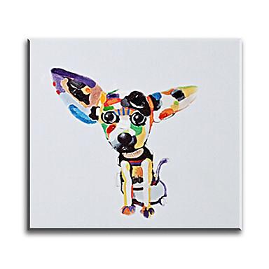 Håndmalte Dyr Klassisk Parfymert Europeisk Stil Stil Moderne Tradisjonell Realisme Middelhavet Lerret Hang malte oljemaleri Hjem Dekor Et