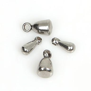 beadia 40pcs rustfritt stål vann dråpe extender kjeden end perler (blandet 2 størrelser)