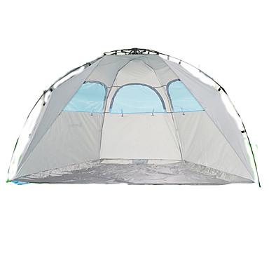 2 Pessoas Abrigo e Lona Encerada Tenda Duplo Barraca de acampamento Um Quarto Tenda Automática Bem Ventilado Prova-de-Água Resistente