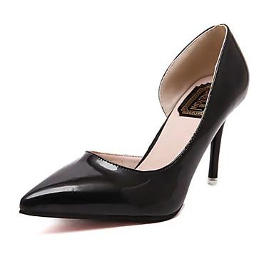 Damen-High Heels-Lässig-PU-Stöckelabsatz-Absätze-Schwarz / Rosa / Silber