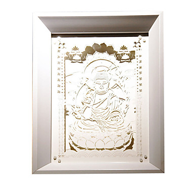 oss plugge ledet kreativ papir carving 3d dekorative jule nattlys sakyamuni