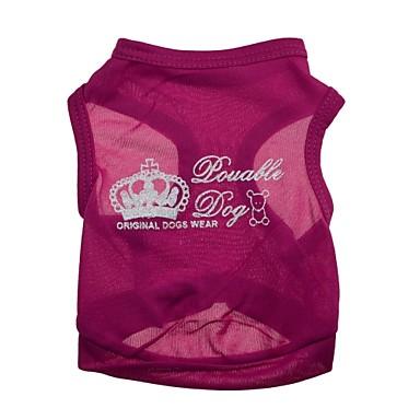 Gatos / Cães Camiseta Rosa Roupas para Cães Verão Tiaras e Coroas Da Moda