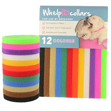 Katze Hund Halsbänder ID Schilder Regolabile / Einziehbar Solide Nylon Regenbogen