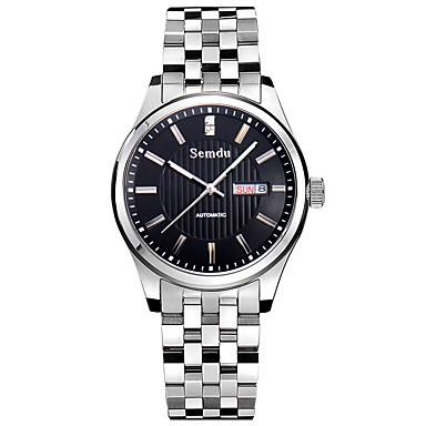 Masculino Relógio de Moda Automático - da corda automáticamente Impermeável / Noctilucente Aço Inoxidável Banda Prata marca