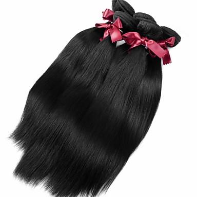 Υφάνσεις ανθρώπινα μαλλιών Κλασσικό Ίσια Προσθετική μαλλιών 1pc Περουβιανή Υφάνσεις ανθρώπινα μαλλιών 0.1kgΚαθημερινά Υψηλή ποιότητα