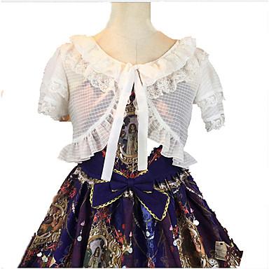 Bluse/Skjorte Søt Lolita Lolita Cosplay Lolita-kjoler Ensfarget Kortermet Kort Lengde Kjole Til Terylene