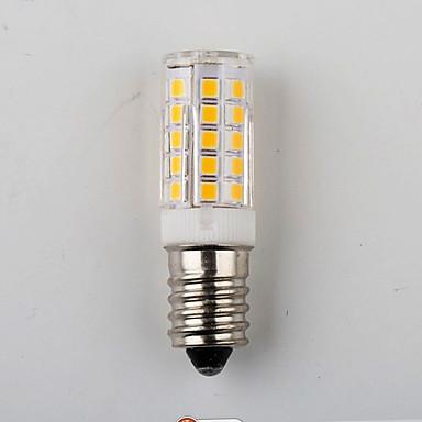 e14 7w 2835 33smd 450lm varm / naturhvit bittesmå lysdioder mais lys