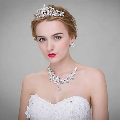 נשים סגסוגת כיסוי ראש-חתונה נזרים 3 חלקים