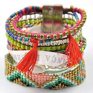 נשים צמידי צ'ארם צמידי גלישה בוהמי חברות פרנזים אופנתי בד סגסוגת תכשיטים תכשיטים עבור יומי קזו'אל