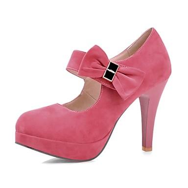 Femme Chaussures Laine synthétique Printemps Eté Automne Hiver Talon Aiguille Noeud Pour Soirée & Evénement Habillé Noir Violet Rose