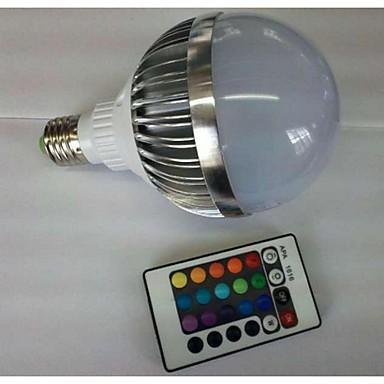 700-900 lm E26/E27 נורות גלוב לד G80 1 נוריות לד בכוח גבוה עובד עם שלט רחוק RGB AC 85-265V