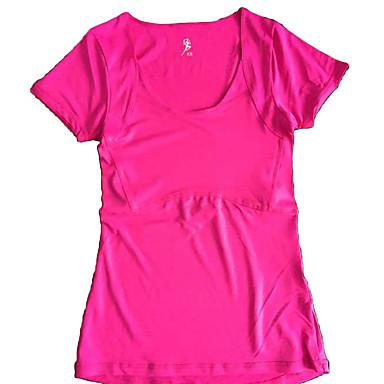 בגדי ריקוד נשים טישרט לריצה שרוולים קצרים ייבוש מהיר חומרים קלים נוח טי שירט ל יוגה כושר גופני ריצה צהוב כחול ורוד סגול ורוד/ כחול XS S M