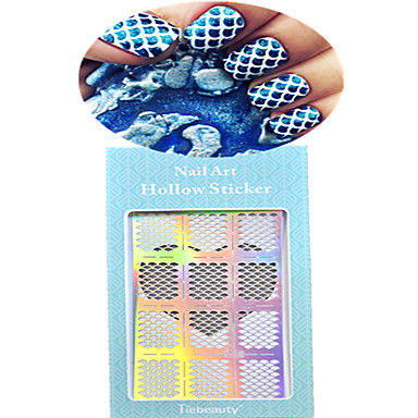 1 Neglekunst klistremerke Hel Negle Tipper Tegneserie Smuk Bryllup Sminke Kosmetikk Neglekunst Design