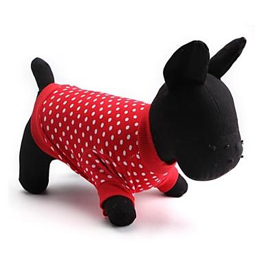 Gato Cachorro Camiseta Roupas para Cães Poá Vermelho Algodão Ocasiões Especiais Para animais de estimação Homens Mulheres Fashion