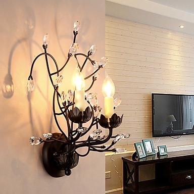 ac 220-240 10 e14 caractéristique de la peinture traditionnelle / classique pour le cristal, mur de uplight appliques murale