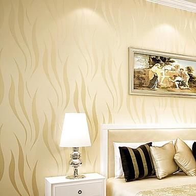 Art Deco Stribe Hjem Dekor Moderne Tapetsering, Ikke vævet papir Materiale selvklebende nødvendig bakgrunns, Tapet