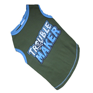 Dog Shirt / T-Shirt Dog Clothes Breathable Letter & Number Blue/Green Costume For Pets