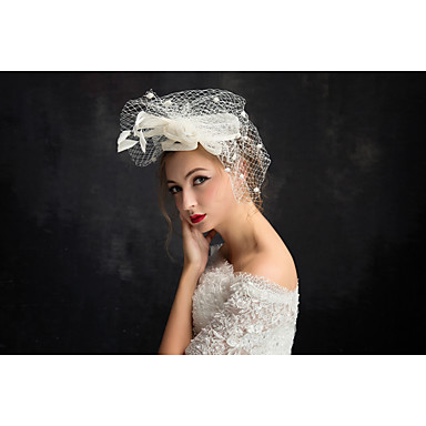 Tüll Feder Fascinators Kopfschmuck klassischen weiblichen Stil