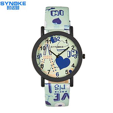 SYNOKE Unissex Relógio de Moda Quartzo Impermeável PU Banda Casual Cores Múltiplas
