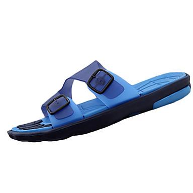 Homme Chaussures Polyuréthane Eté Confort Sandales pour Décontracté Jaune Marron Rouge Bleu