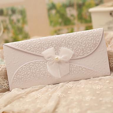 Dreifach gefaltet Hochzeits-Einladungen Einladungskarten Klassicher Stil Schmetterling Stil Märchenthema Perlenpapier Bänder