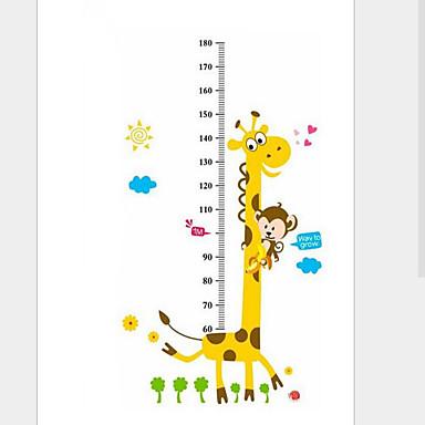 Højde klistermærker - Animal Wall Stickers Dyr Stue / Soveværelse / Drengeværelse / Vaskbar / Kan fjernes / Kan genpositioneres