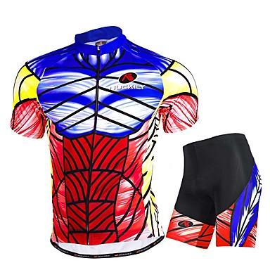 Camisa com Shorts para Ciclismo Homens Manga Curta Moto Camisa/Roupas Para Esporte Shorts Blusas Calças Conjuntos de Roupas Respirável