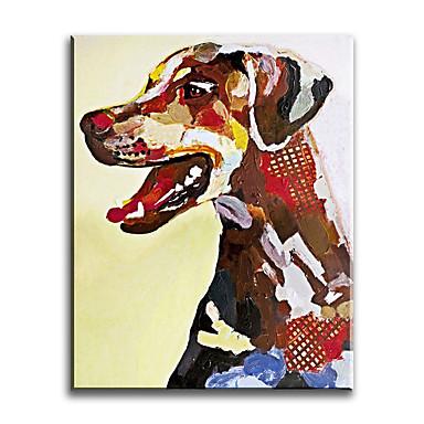 Peint à la main Animal Format Vertical,Classique Moderne Traditionnel Réalisme Méditerranéen Pastoral Style européen Toile Peinture à