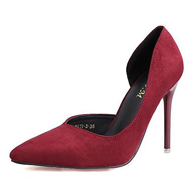女性用 靴 スエード 春 秋 ヒール スティレットヒール スパークリンググリッター のために パーティー フクシャ グリーン ブルー ピンク バーガンディー