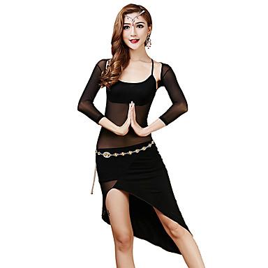 Robes(Noire / Bordeaux,Tulle / Modal,Danse du ventre)Danse du ventre- pourFemme Au drapée Entraînement Danse du ventre Taille moyenne