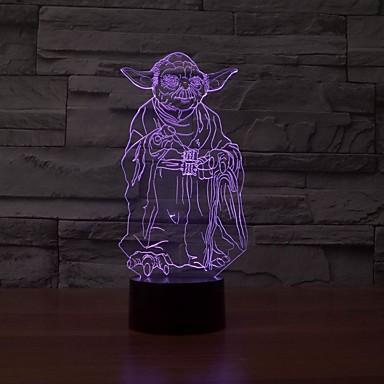 única ilusão óptica candeeiro de mesa 3d luz conduzida da noite de iluminação acessórios domésticos