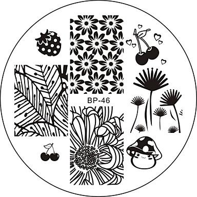 Nail Art stempling Plate Stamper Skraber 6*6*0.1