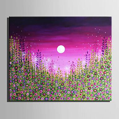 Pintados à mão Paisagem Floral/Botânico Horizontal,Modern Estilo Europeu 1 Painel Tela Pintura a Óleo For Decoração para casa