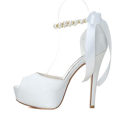 Pentru femei Pantofi Primăvară Vară Toc Stilat Platformă Perle pentru Nuntă Party & Seară Negru Alb Roșu Roz Albastru